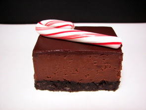 Chocolate-Peppermint Cheesecake Candy Cane Bars