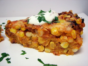 Fresh Corn Tart with Chipotle Cream