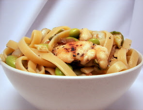 Chicken, Edamame and Noodle Stir-Fry