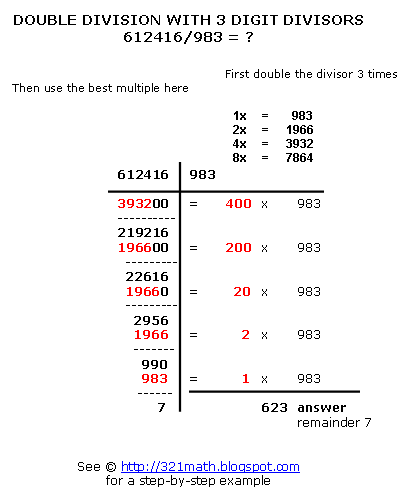 How To Do Long Division Step By Step Double Division