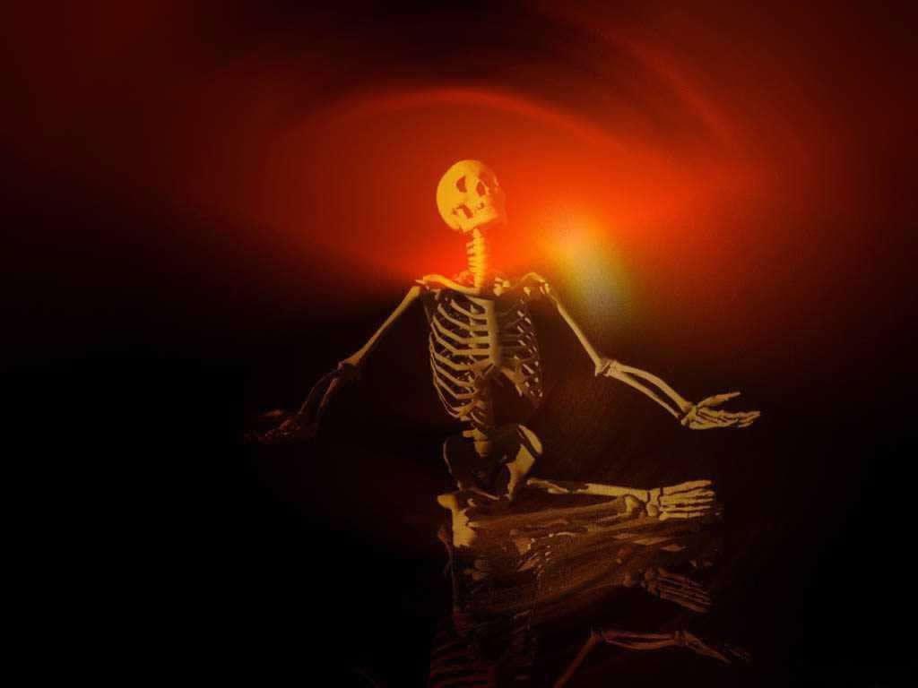 halloween skeleton wallpaper - photo #18