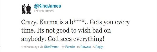 LeBron James teaches us about karma