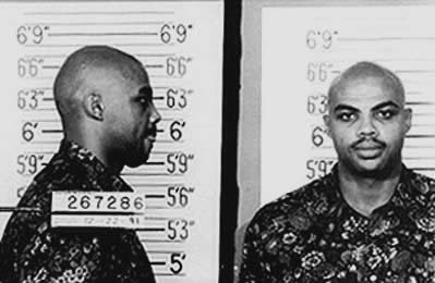 Charles Barkley's classic mugshot