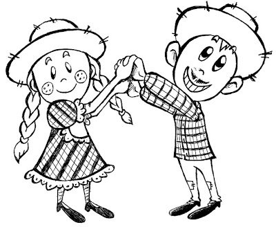 Menino E Menina Dancando Festa Junina Desenho De Festa Jinina