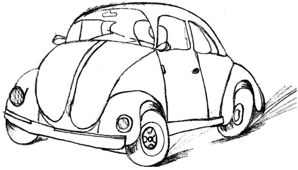 Desenho De Fusca: Fusca, Desenhos De Carros Antigos Para Pintar, Carros