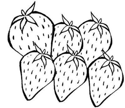 Desenho De Morango Para Colorir Desenho De Fruta Morango