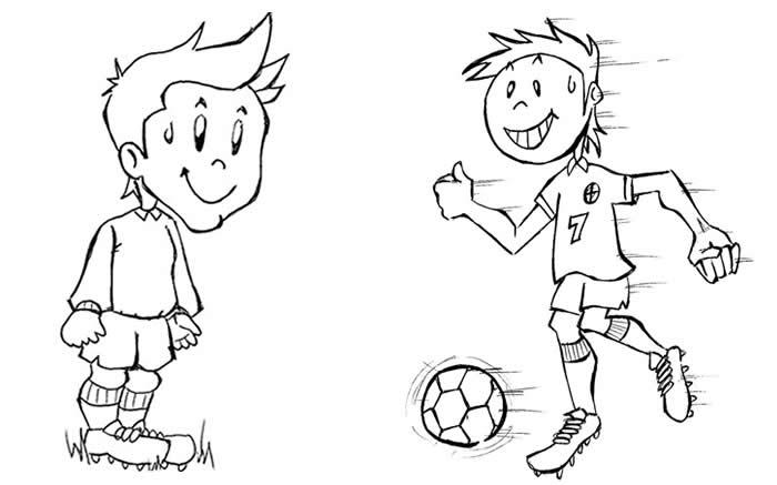 Pin Desenhos Meninos Jogando Bola Brincando Carrinho