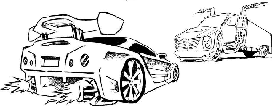 Desenho Carro E Caminhao Colorir E Pintar Desenhos Para Colorir