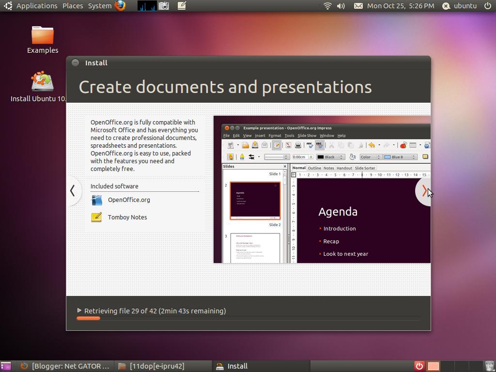 ubuntu 10.10 installation guide and gallery - net gator, Presentation templates