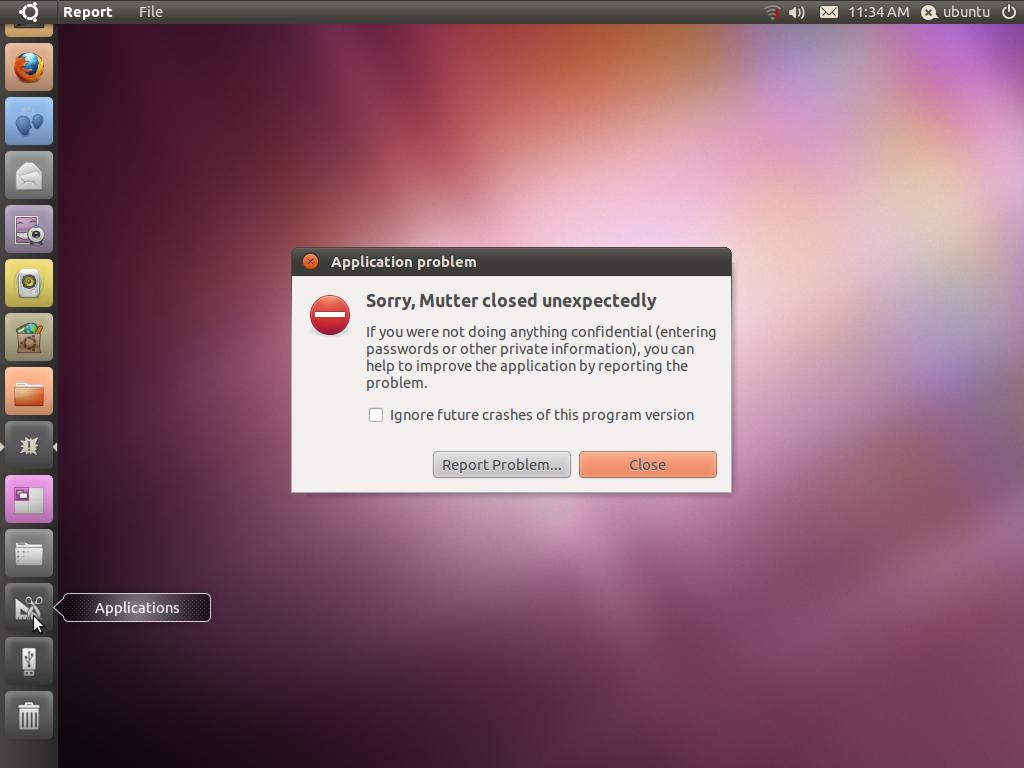 Sorry, Mutter closed unexpectedly on Ubuntu 10 10 ~ Net Gator