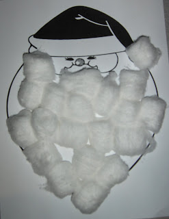 Santa's cotton ball beard