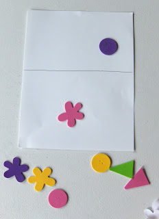listening activity with foam stickers