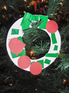 paper plate wreath