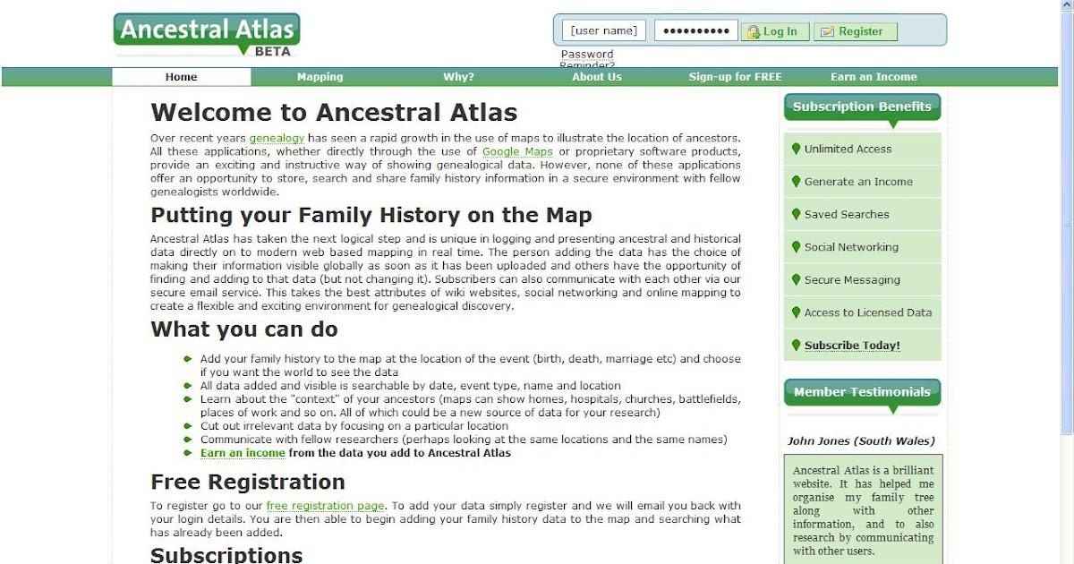 Genea-Musings: Ancestral Atlas: Post 1 - First Look