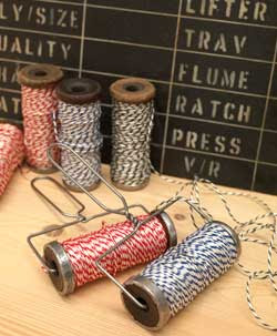 red and white bakers twine
