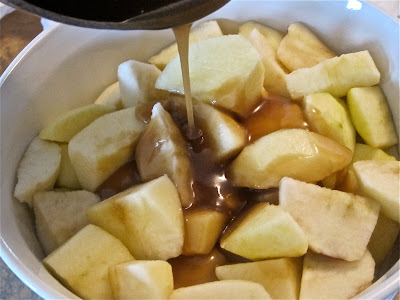 These easy to make baked caramel apples are the ultimate comfort food and perfect as a desert, ice cream topping, or side dish. #WomenLivingWell #comfortfood #caramel #apples