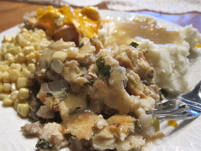 This herb and sausage stuffing, using fresh herbs, will take your holiday meal to the next level and be the winning dish on your table. #WomenLivingWell #stuffing #holidaymeals #easyholidaydishes