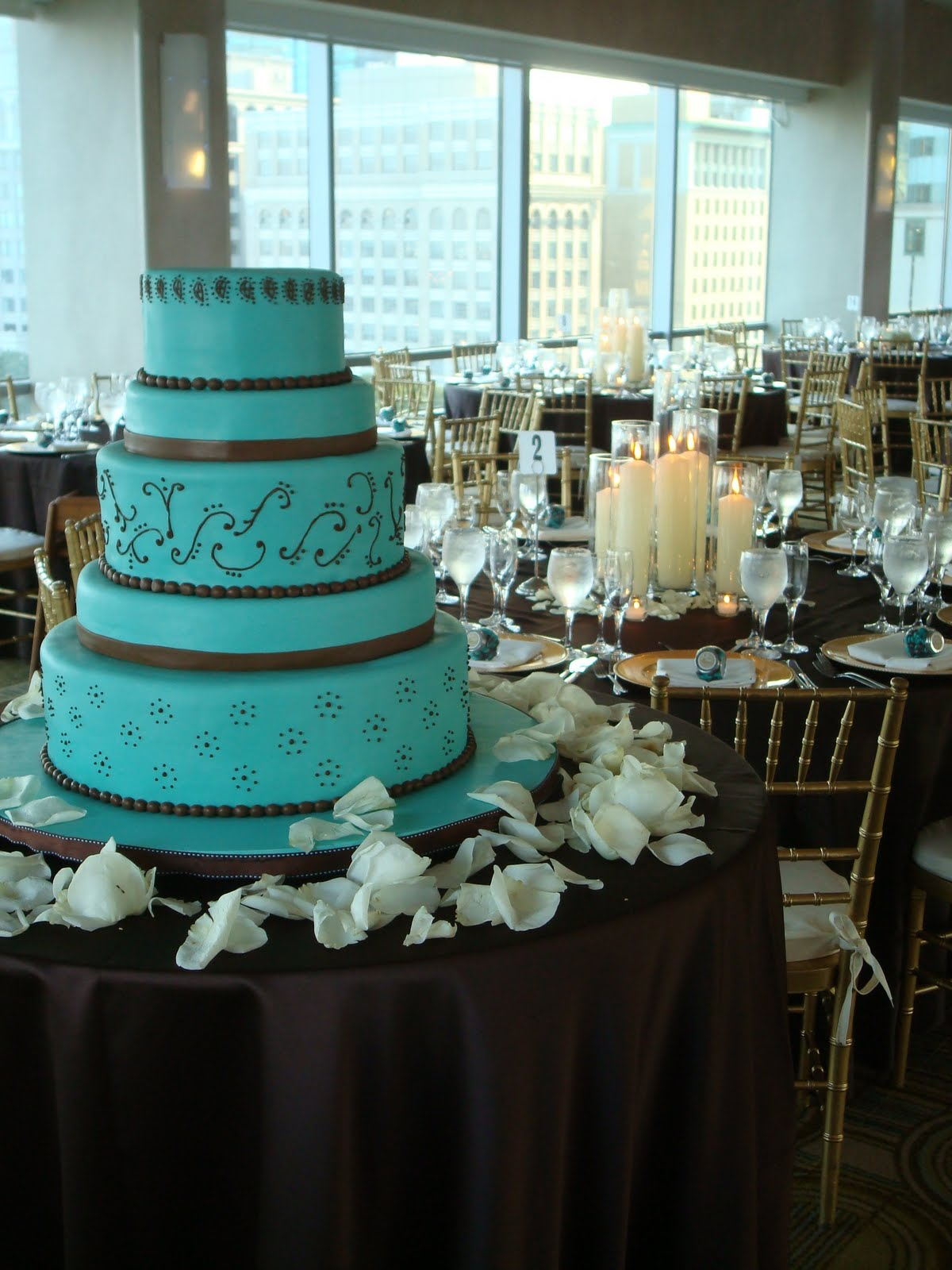 teal blue and brown wedding cakes all things teal on teal turquoise and 20775