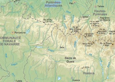 kart pyreneene Jan Kåre Ness tur  og fotoblogg: 8 dagers tur til Pyreneene 17. 24  kart pyreneene