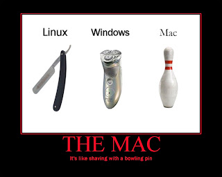 windows linux mac razor shaving machine pin, the mac, is like shaving with a bowling pin