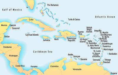 mapa das caraibas Viagens pelo Mundo: CRUZEIRO NAS CARAÍBAS 1 mapa das caraibas
