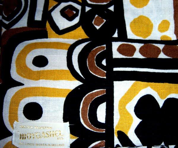 Original Label From Vintage 60s Moygashel Linen Fabric
