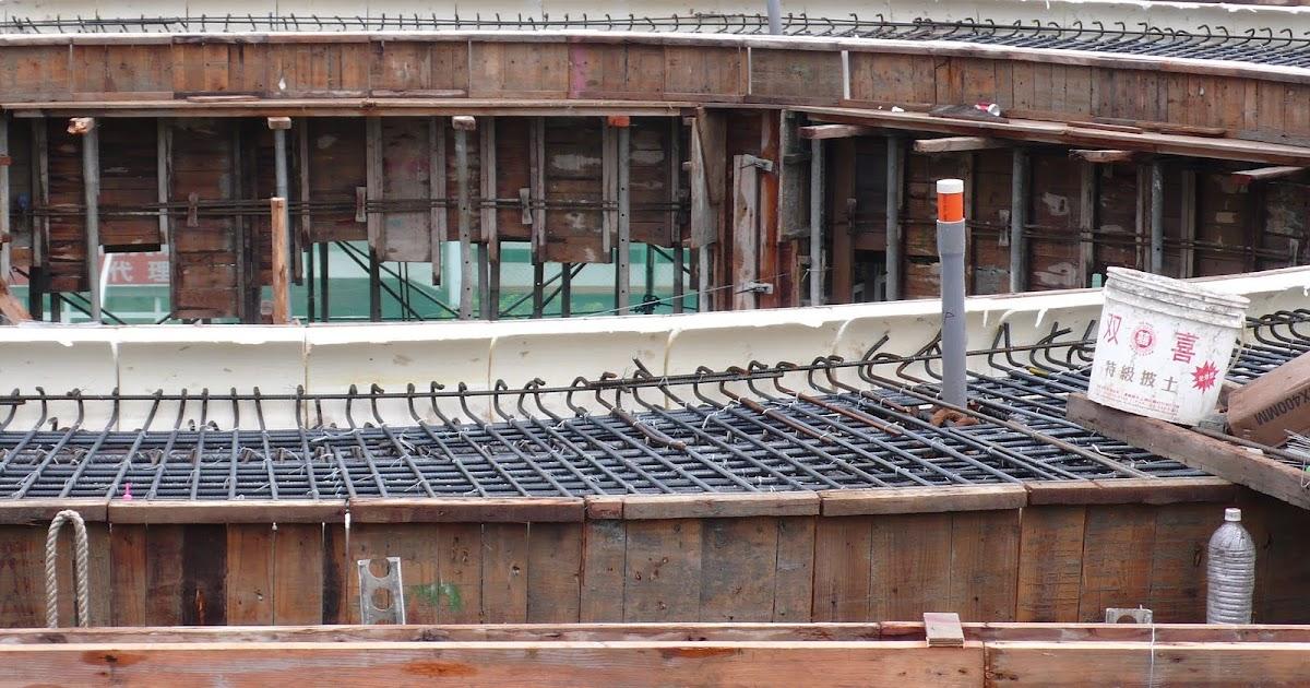 臺中市北區省三國小「第二期工程」Blog: 99.09.23 造型屋頂鋼筋綁紮