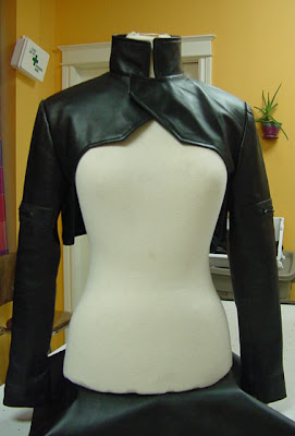 Ghost in the Shell Motoko Kusanagi Leather Shrug Front
