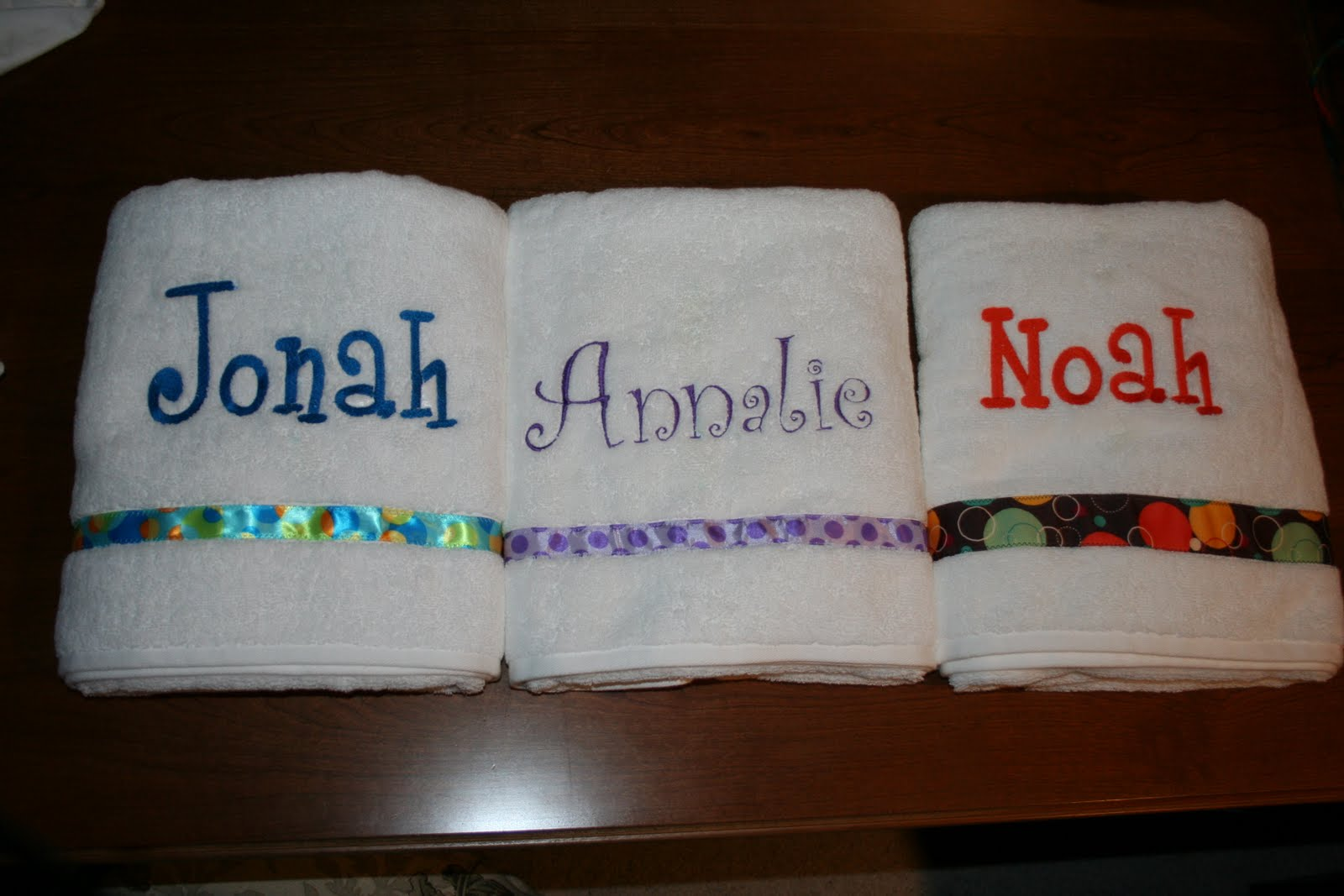 Bibs For Adults >> Crazy Daisy Designs: Embroidered Personalized Towels