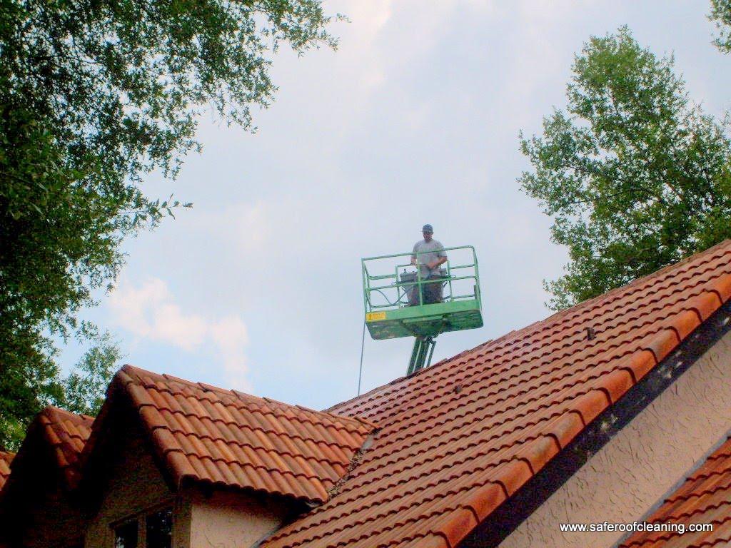 Pressure Washing Tile Roof Tampa Fl
