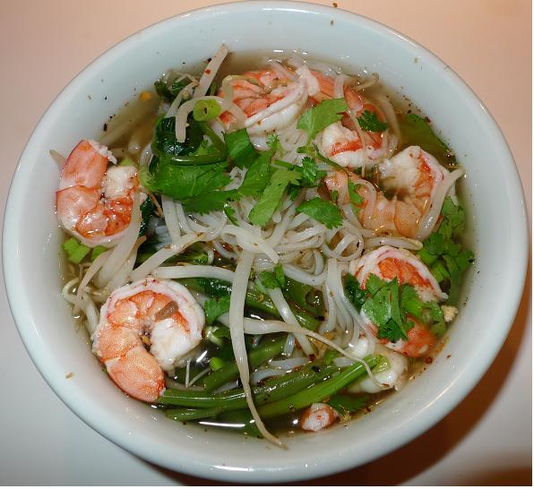 Thai Kitchen Chester: Amporn's Thai Kitchen: Thai Small Rice Noodle Soup With Shrimp