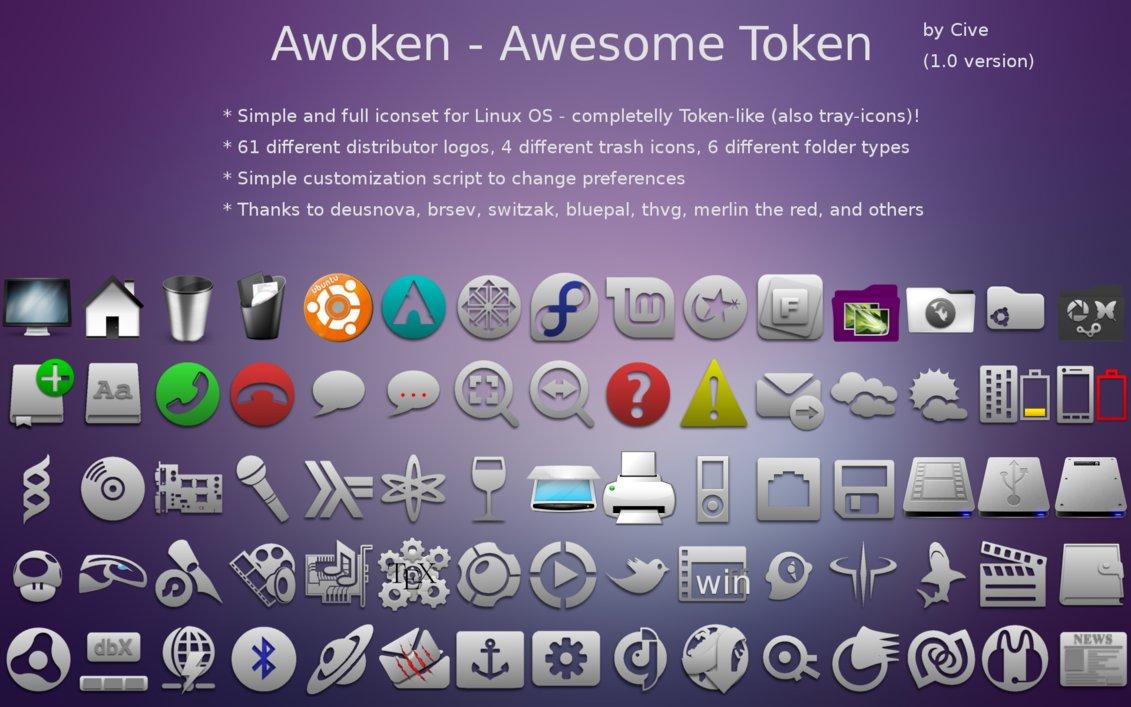 Awoken - Brilliant Icon Theme For Ubuntu/Gnome