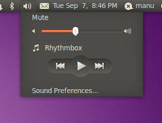 Ubuntu 10.10 Sound Menu