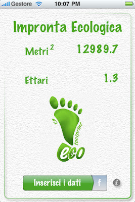 Ecological Footprint iPhone App