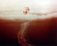 GEORGE-RED: Test:George; Date:8 May June 1951; Operation:Greenhouse; Site:Island Eberiru (Ruby), Enwetak atoll; Detonation:Tower; Yield:225kt; Type:Fission/Fusion