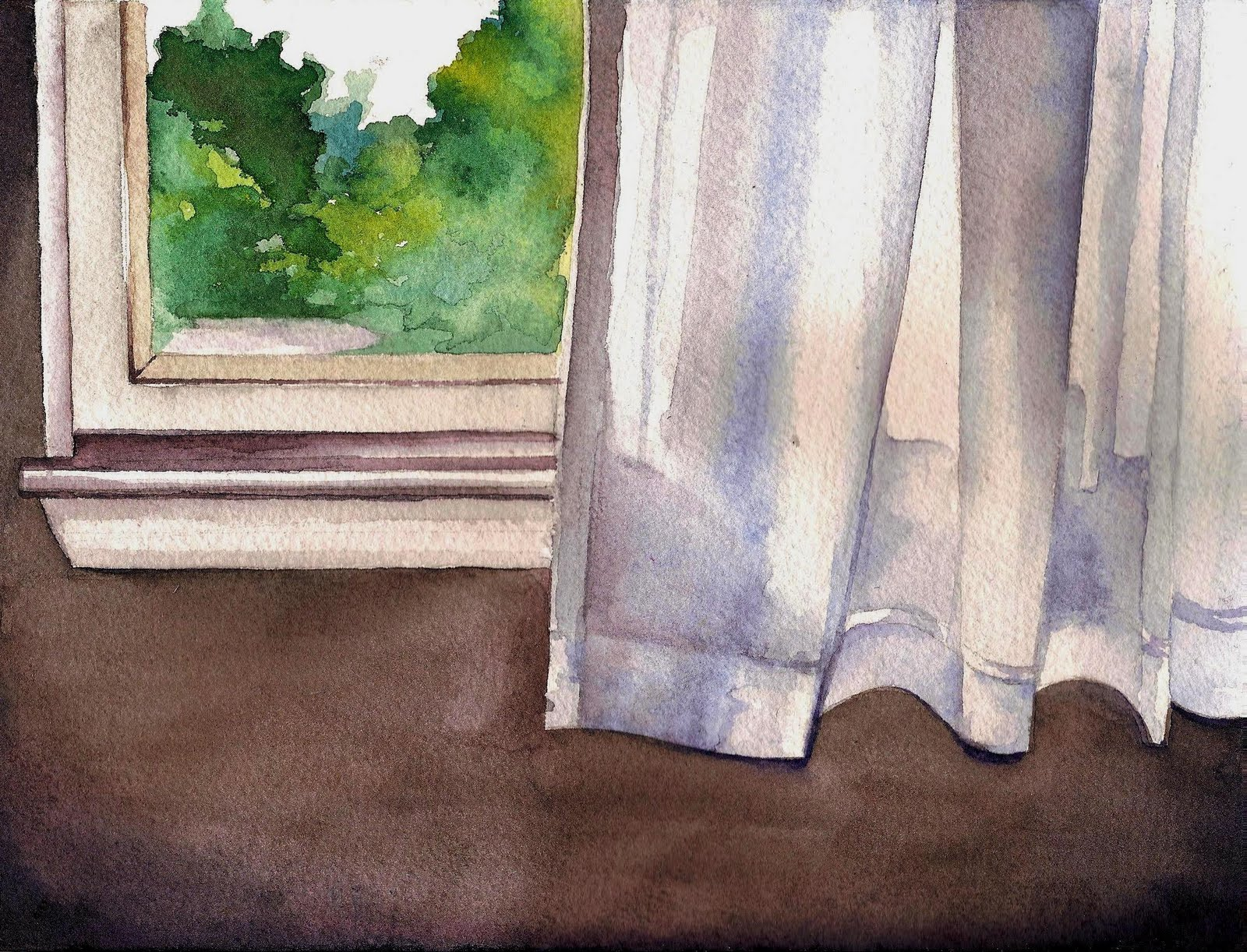 How To Paint Curtains In Watercolor Gopelling Net