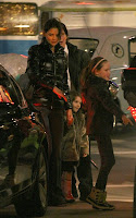 Katie Holmes visiting Tom Cruise on-set in Vancouver