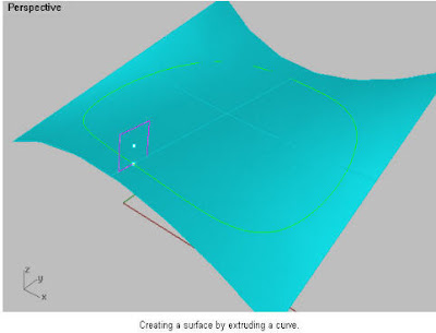 Rhino 3D Blog: Creating a surface by extruding a curve