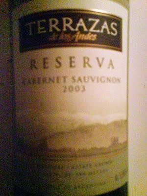 Wine In Sweden Tn Cabernet Sauvignon Reserva 2003