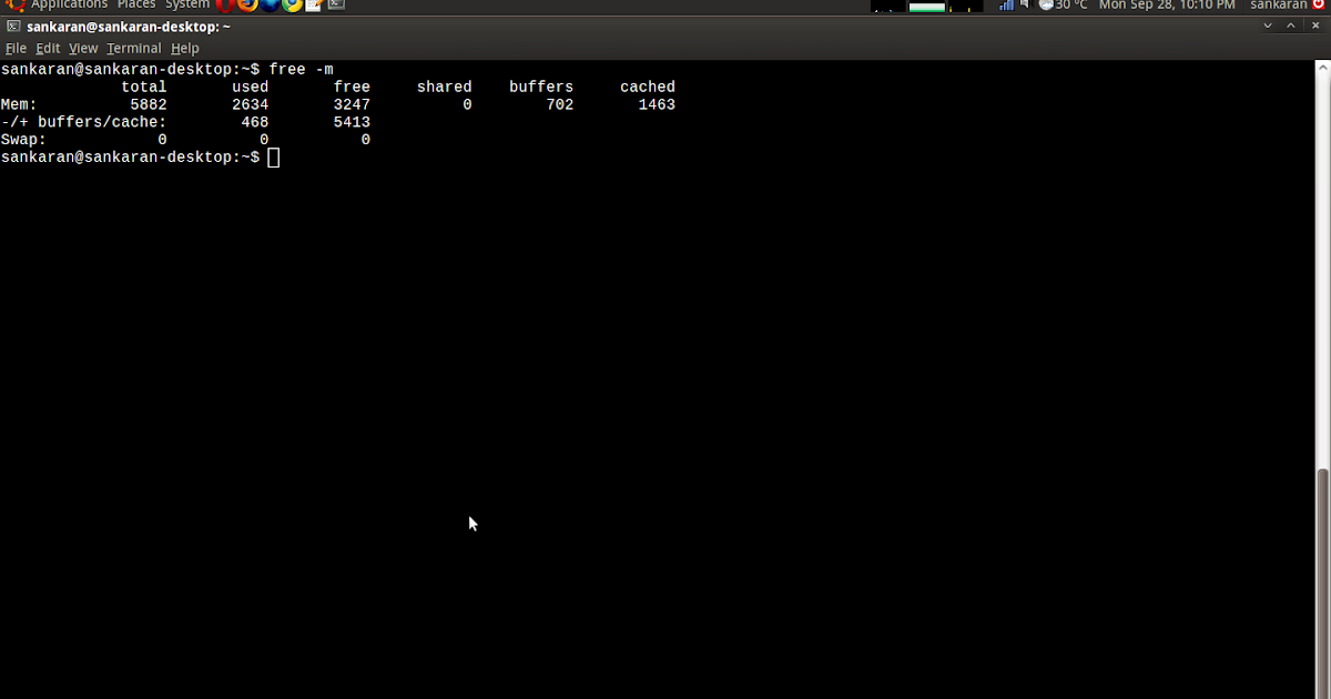 My experiments with Linux: Clearing cache memory in linux using sysctl