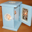 Reclaimed Country Cottage French Blue Candle Holders and Wall Hangings