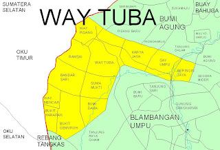 Business Map: Propinsi Lampung, Kabupaten Way Kanan
