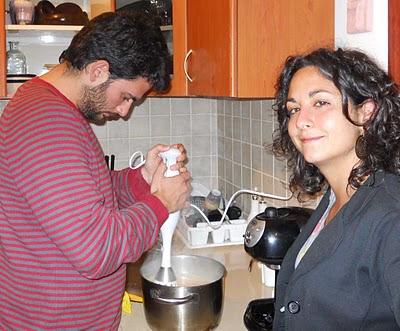 Preparazione della zuppa di batate