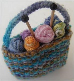 Golden Bird Knits Miniature Knitting Bag Pattern