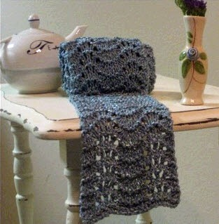 Golden Bird Knits Blue Bamboo Scarf Knitting Pattern