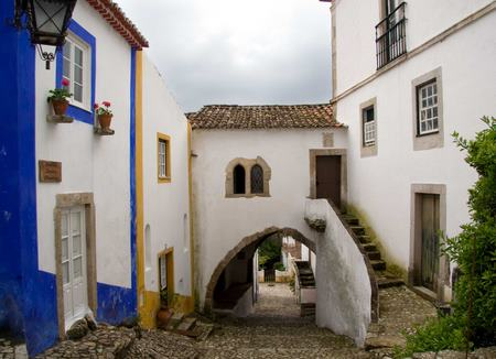 Obidos, the medieval white walled town