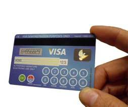 Unterschrift American Express Karte.Bargeldlos