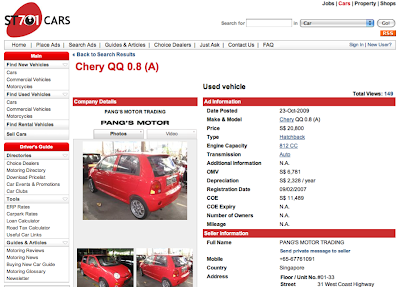 My Knowledge Bank: Buying a Used Car in Singapore? - Do Your Maths