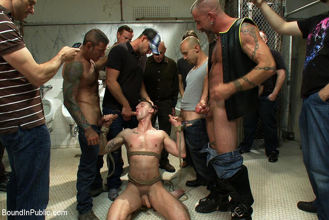 Free public gay domination video
