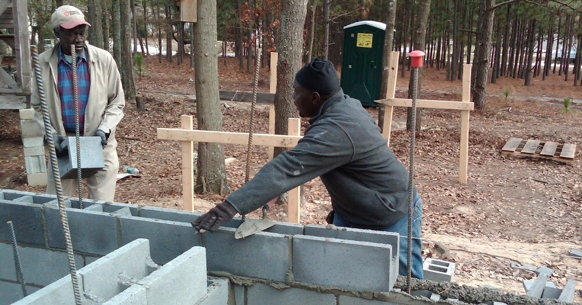 Container House Foundation Walls Almost Complete
